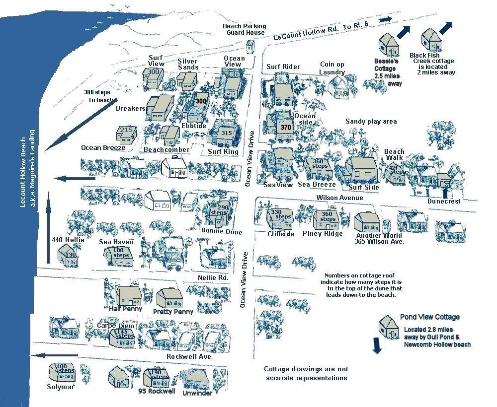 Cape Cod Rentals Cottage Map